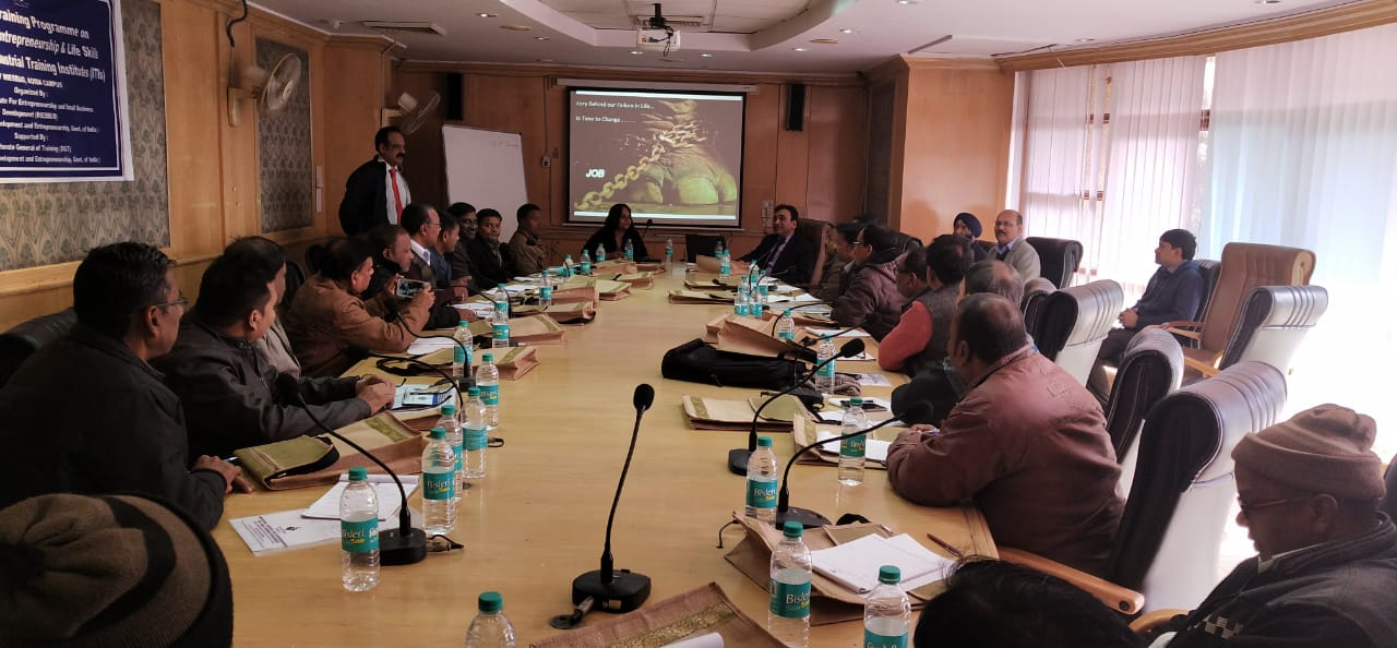 NIESBUD DG Interacting with Training of Trainer Programme Participants at NIESBUD, Noida on 1 Jan, 2019.