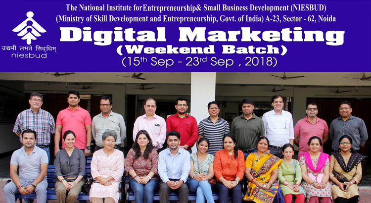 Digital Marketing Training concluded on 23 Sep, 2018
