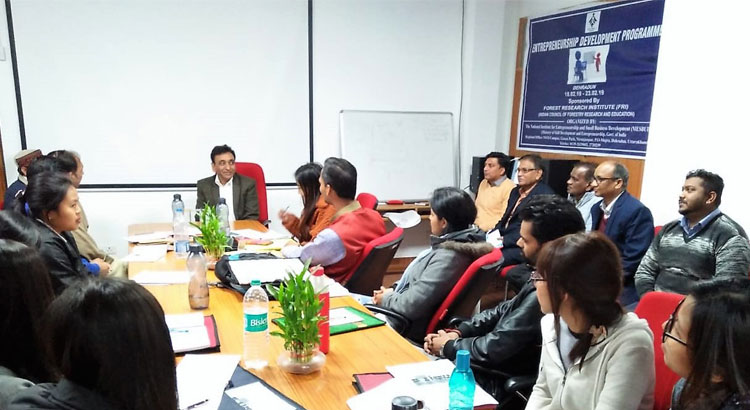Director General interacting with successful Entrepreneurs trained by NIESBUD
