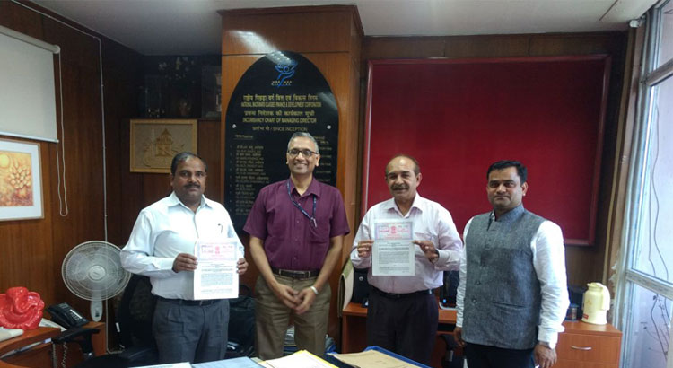 The Institute signs MoA with NBCFDC for organising NSQF complaint and Common Norms based Skill Development Training Programmes.