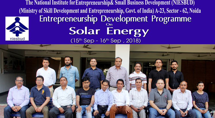 Solar Energy Training concluded on 16 Sep, 2018