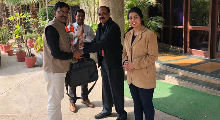 Visit by Mr Brajesh Kumar Srivastava, Under Secretary, Ministry of External Affairs at NIESBUD Noida