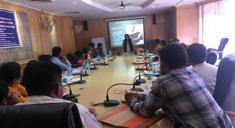 NIESBUD Joint Director addressing Training of Trainer Programme Participants at NIESBUD, Noida on 26 NOv, 2018.