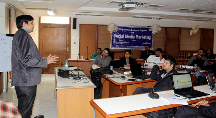 Certification Programme on Social Media Marketing concluded on 14th January 2018